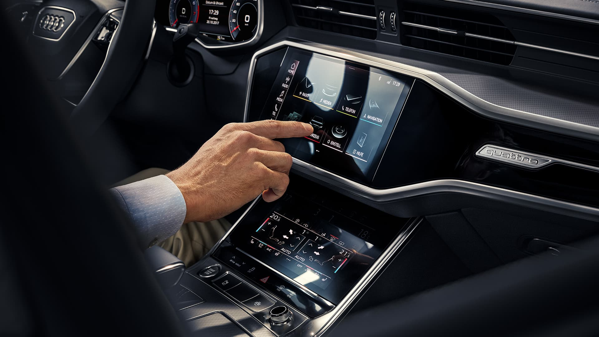 Audi connect met MMI touch response-technologie