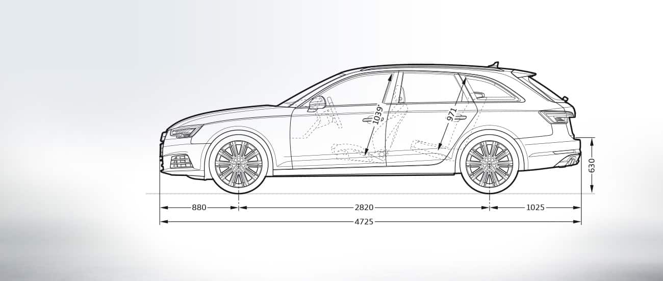 Dimensioni audi a4 station wagon 2013 6