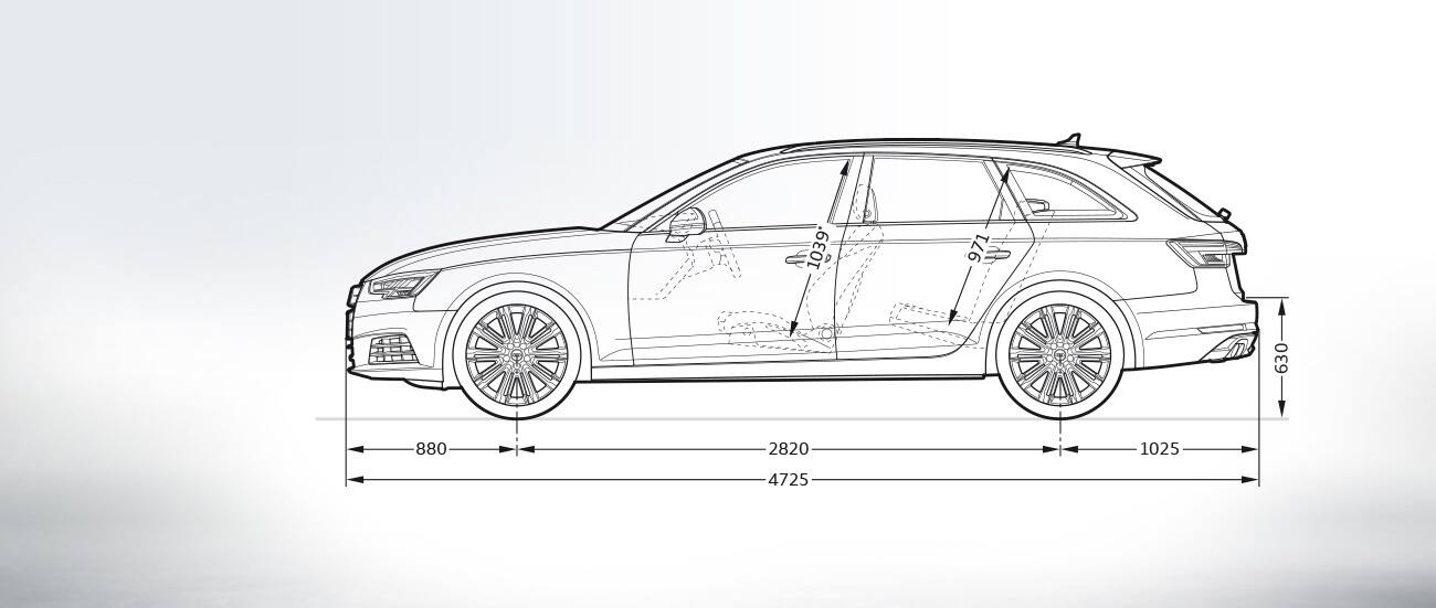 Dimensioni audi a4 station wagon 2013