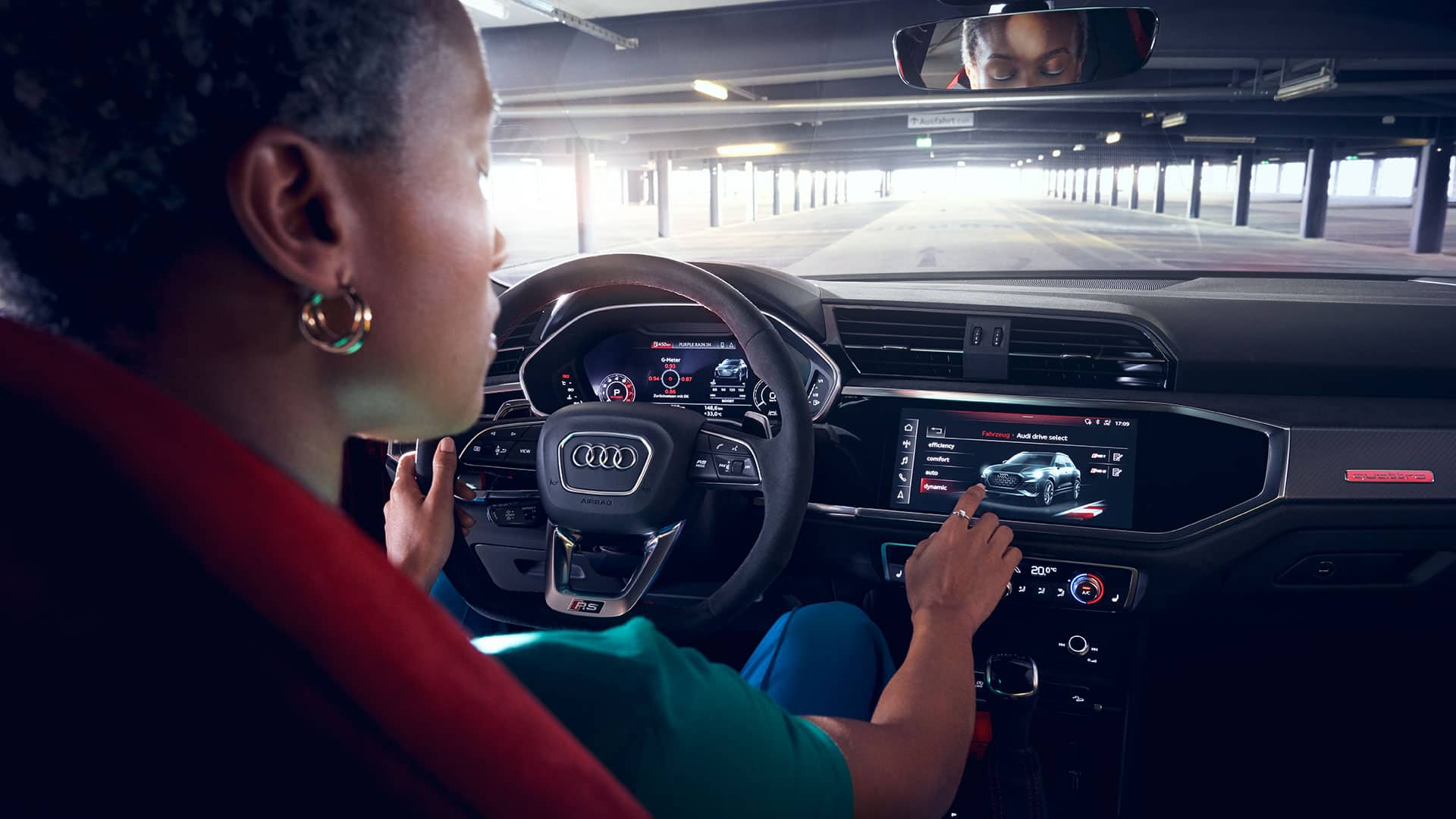 MMI-touchscreen in de Audi RS Q3