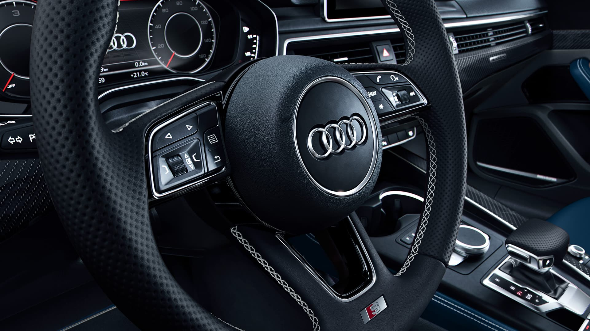 Audi virtual cockpit in de Audi S5 Sportback