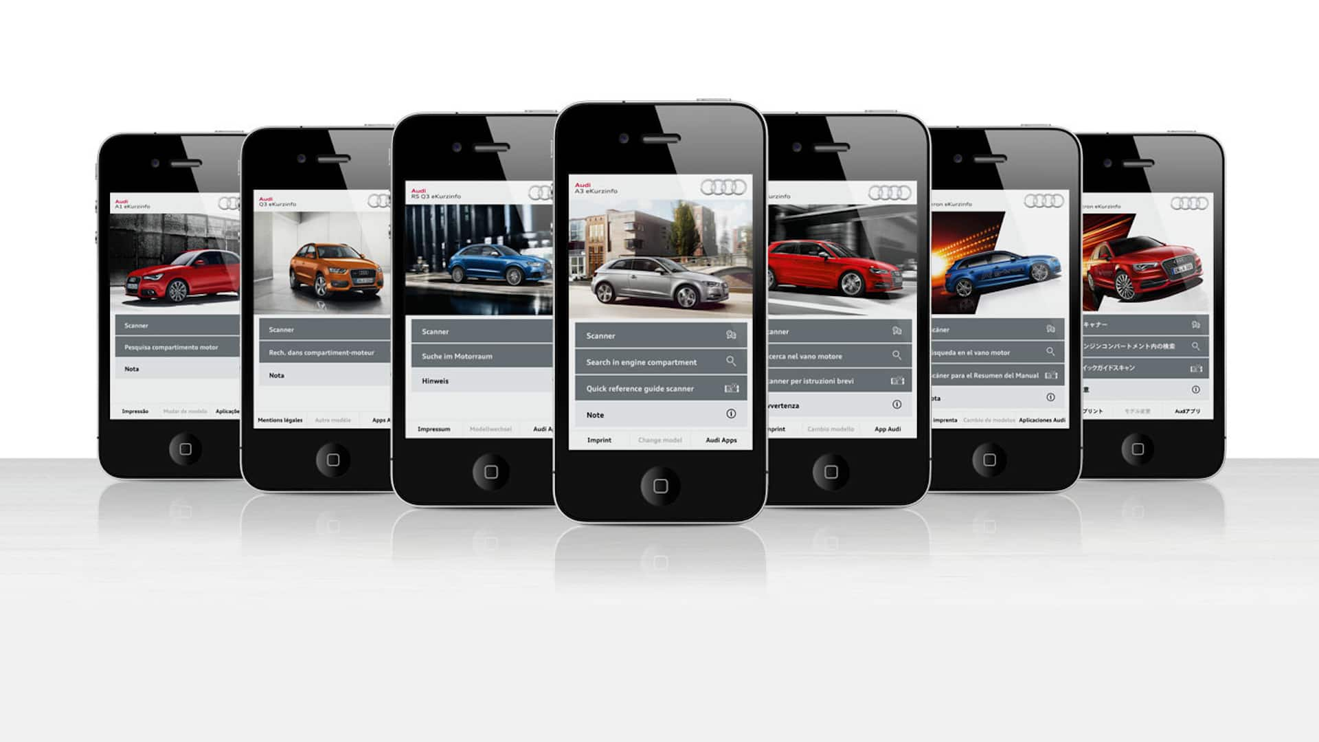Audi heeft handige en leuke apps voor uw iPhone, Android smartphone en iPad. Die komen altijd van pas, in de auto of ergens anders. De Audi apps zijn gratis te downloaden in de iTunes App Store en Google Play.